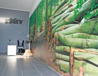 Mur tendu imprimé L'Image Verte