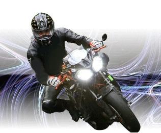 Phares xenon sur moto